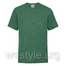 Футболка средней плотности хлопковая детская - 61033-RX зеленый меланж