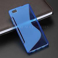 Силиконовый чехол Duotone для Huawei P8 LITE синий, фото 1