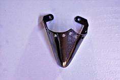 Носики темное серебро (украшение на носок женской обуви) №012