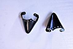 Носики черные (украшение на носок женской обуви) №013