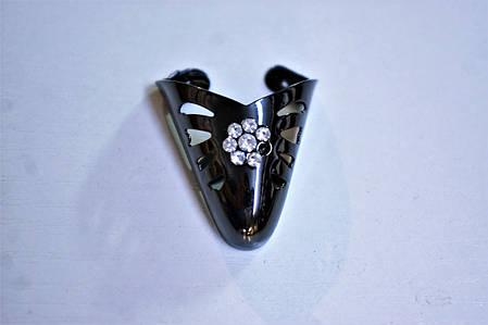 Носики черные (украшение на носок женской обуви) №014, фото 2