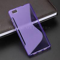 Силиконовый чехол Duotone для Huawei P8 LITE фиолетовый, фото 1