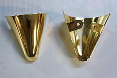 Носики золото (украшение на носок женской обуви) №016