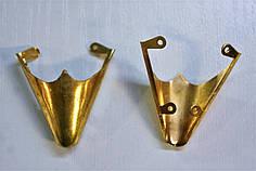 Носики золото (украшение на носок женской обуви) №017