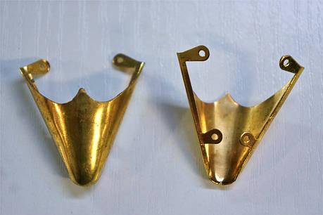 Носики золото (украшение на носок женской обуви) №017, фото 2