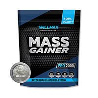 Гейнер для набора массы Willmax Mass Gainer (2 кг) вилмакс масс Без вкуса