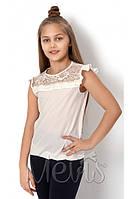 Школьная блуза для девочки р. 122, 134, 140,  146