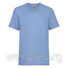 Футболка средней плотности хлопковая детская - 61033-YT небесно-голубая