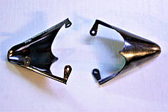 Носики темное серебро (украшение на носок женской обуви) №020