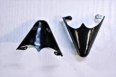 Носики черные (украшение на носок женской обуви) №021