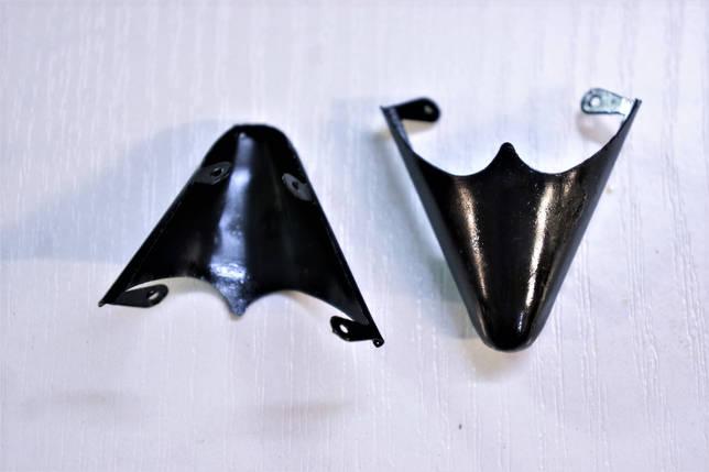 Носики черные (украшение на носок женской обуви) №021, фото 2