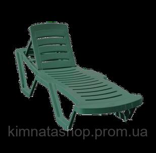 Шезлонг лежак пластиковий CAPISSI (Туреччина) зелений