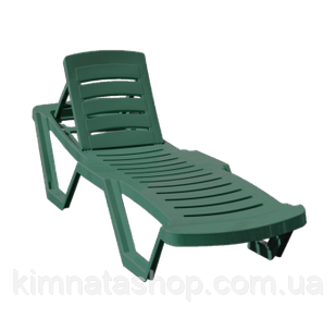 Шезлонг лежак пластиковый CAPISSI (Турция) зеленый