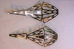 Носики серебро (украшение на носок женской обуви) №022
