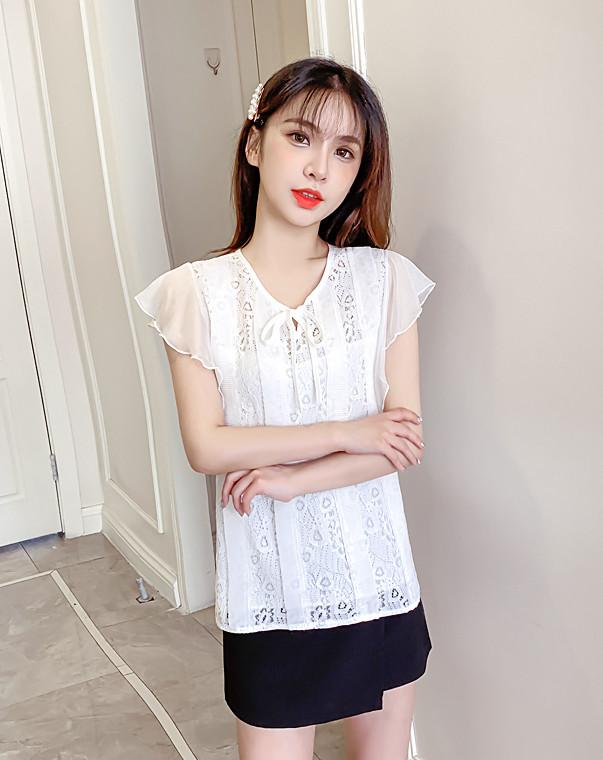 Гипюровая блуза с крылышками 44-46 (в расцветках)
