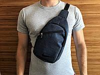 Мужская сумка бананка на грудь