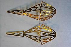 Носики золото (украшение на носок женской обуви) №023