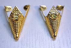 Носики золото (украшение на носок женской обуви) №024