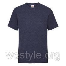 Футболка средней плотности хлопковая детская - 61033-VF темно-синий меланж