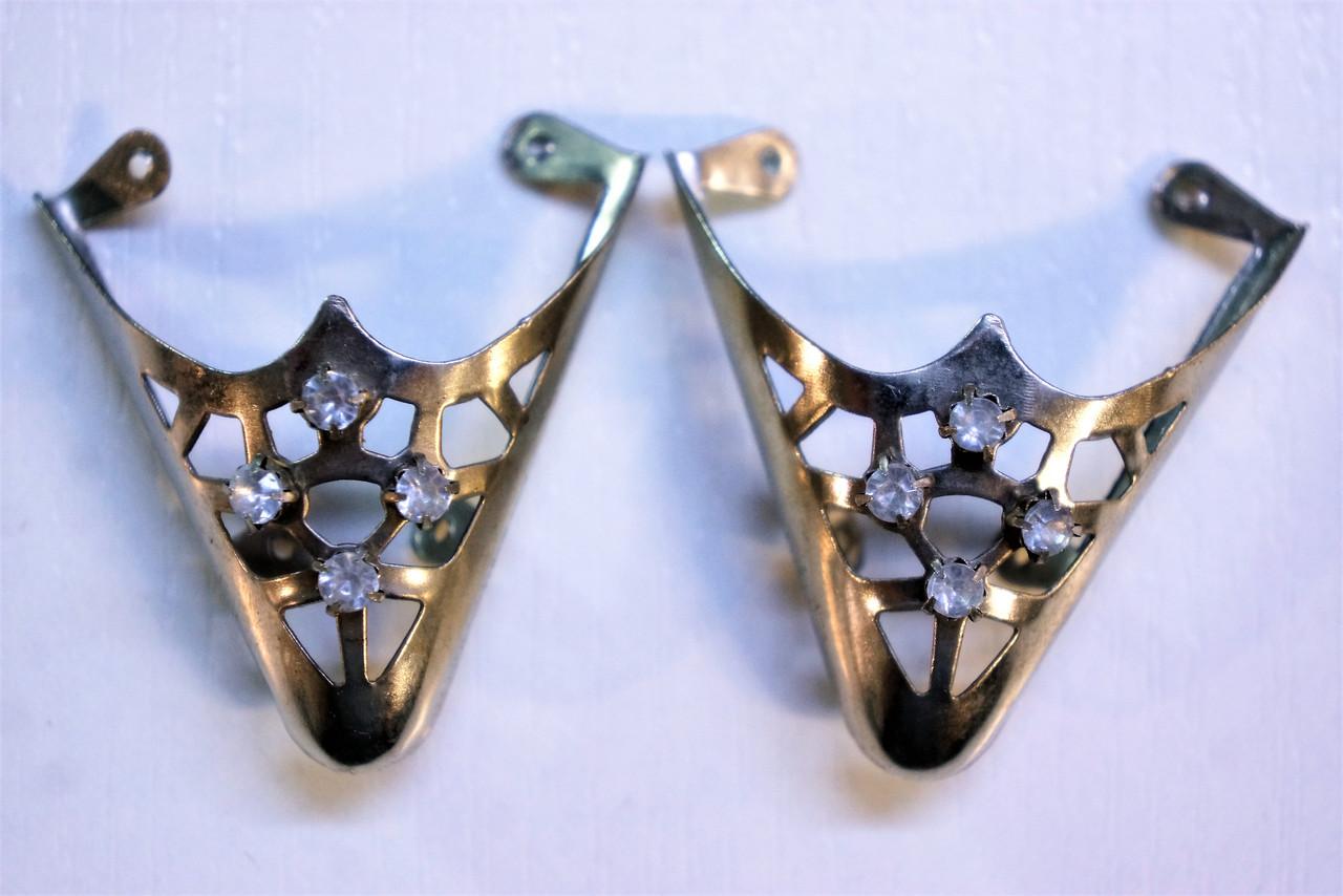 Носики бронза (украшение на носок женской обуви) №026