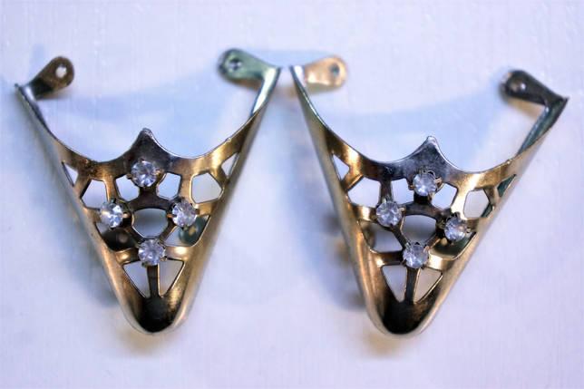 Носики бронза (украшение на носок женской обуви) №026, фото 2
