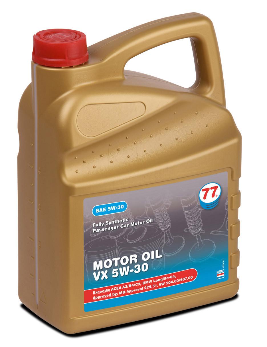 Motor Oil VX 5W-30 (кан. 5 л) VW 504.00/507.00