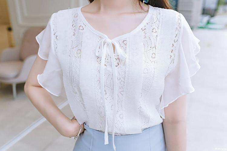 Нежная гипюровая блуза 44-46 (в расцветках)