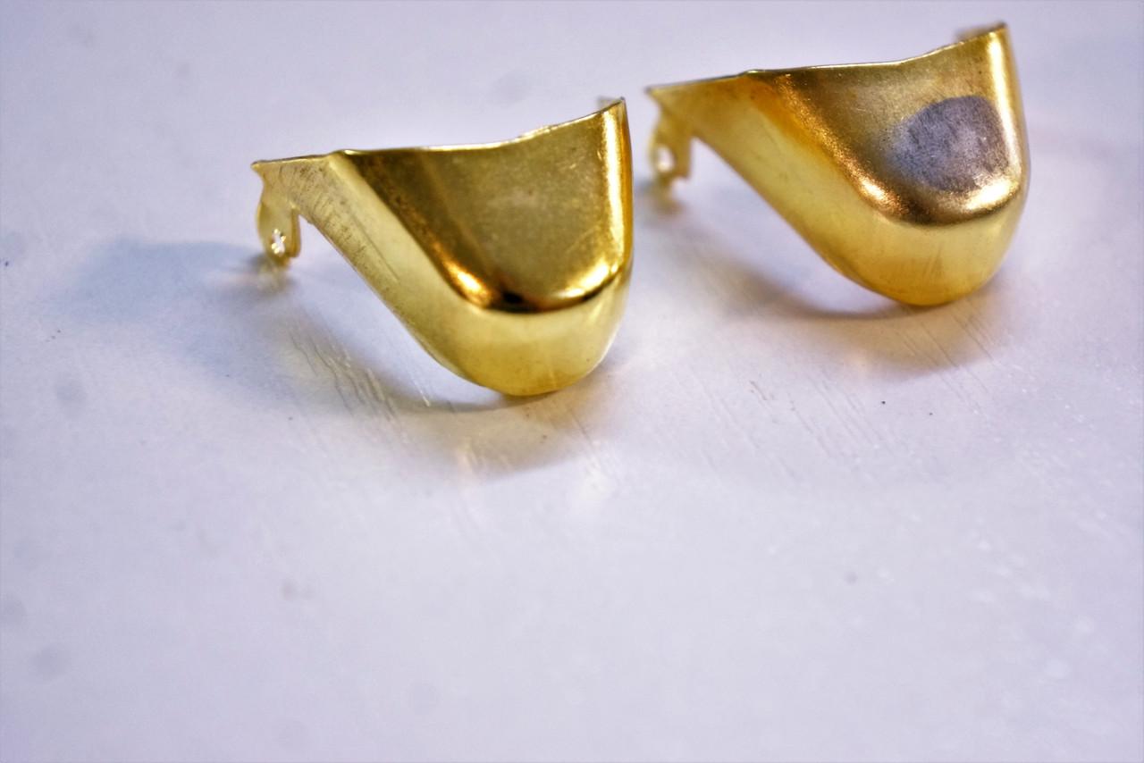 Носики золото (украшение на носок женской обуви) №027