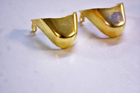 Носики золото (украшение на носок женской обуви) №027, фото 2