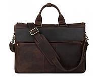 Сумка мужская для ноутбука Wild Leather (001) кожаная коричневая