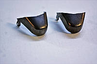 Носики черные (украшение на носок женской обуви) №029 темный никель