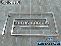 Современный полотенцесушитель Cyclone 8 /510х900 мм, для стильного интерьера ванной комнаты. Водяной