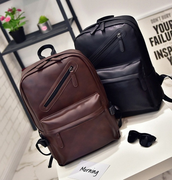 Городской мужской рюкзак кожзам