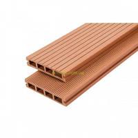 Террасная доска из ДПК WoodMart коллекция Premium 140х25х2200мм/3000мм, цвет Терракот