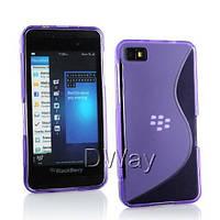 Силиконовый чехол Duotone для BlackBerry Z10 фиолетовый