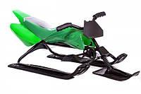Санки-мотоцикл green. КД48, фото 1