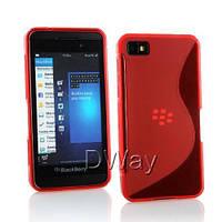 Силиконовый чехол Duotone для BlackBerry Z10 красный