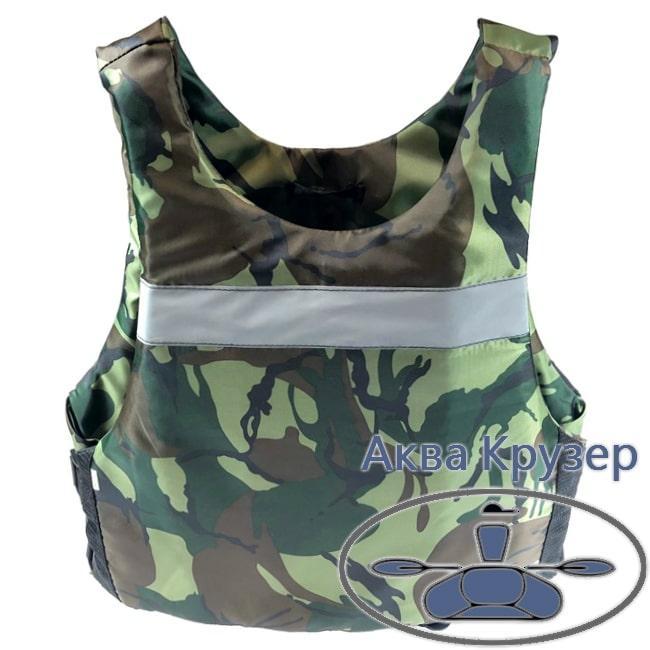 Страховочный жилет - майка, 80-100 кг, сертифицированный, универсальный, цвет камуфляж - спасательный
