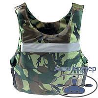 Страховочный сертифицированный жилет - майка универсальный, 80-100 кг, камуфляж, фото 1