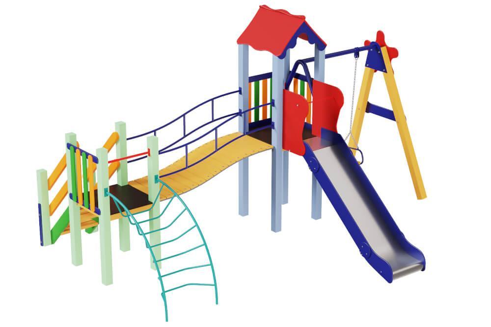 Детский комплекс Верблюжонок, высота горки 1,5 м. КД219