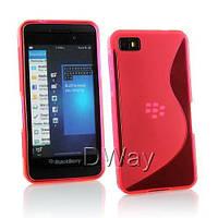 Силиконовый чехол Duotone для BlackBerry Z10 розовый