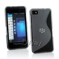 Силиконовый чехол Duotone для BlackBerry Z10 серый