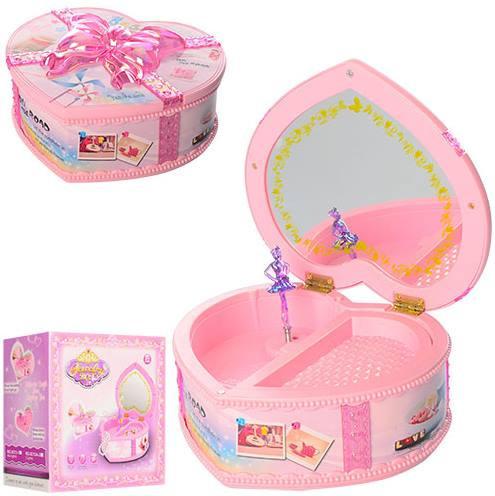 Музыкальная розовая шкатулка с балериной