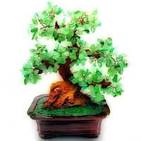Дерево Kanishka с камнями 33х20х14 см Зеленое с коричневым