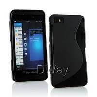 Силиконовый чехол Duotone для BlackBerry Z10 чёрный, фото 1