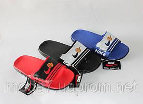 Шлепки детские Nike на мальчика синие реплика, фото 2