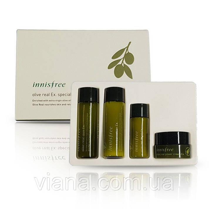 Набор для глубокого увлажнения и питания лица INNISFREE Olive real Ex.