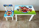 """Комплект стол и 1 стул детский """"Щенячий патруль"""", фото 2"""