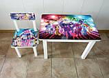"""Комплект стол и 1 стул детский """"Литл Пони"""", фото 2"""