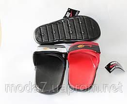 Шлепки детские Nike на мальчика черные реплика, фото 3